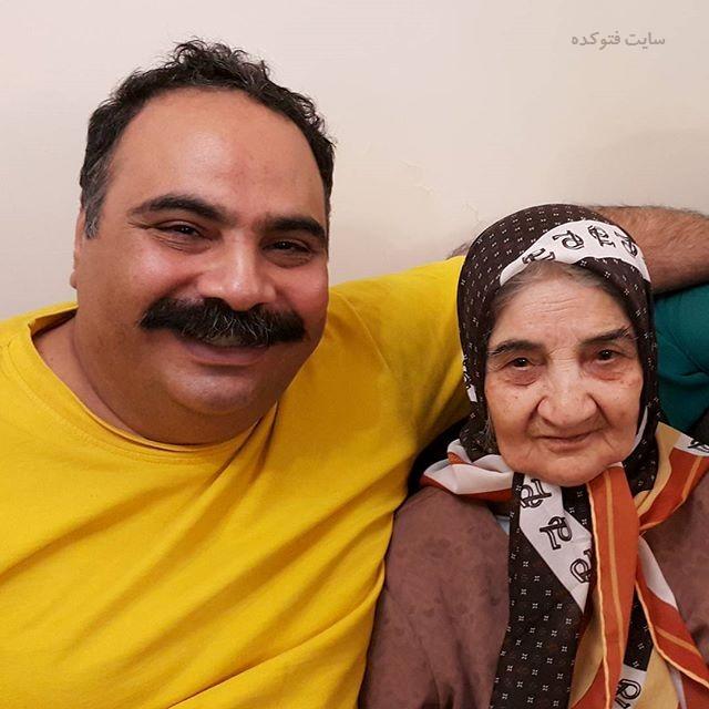 عکس علی کاظمی و مادرش