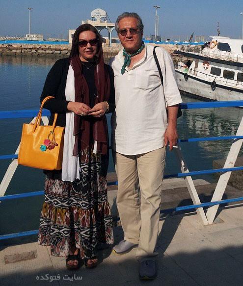 عکس شاهرخ فروتنیان و همسرش افسانه چهره آزاد