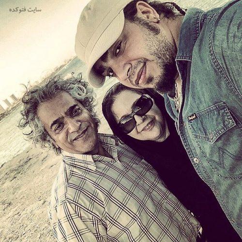 عکس افسر اسدی بین همسرش اصغر همت و پسرش هامون + بیوگرافی کامل