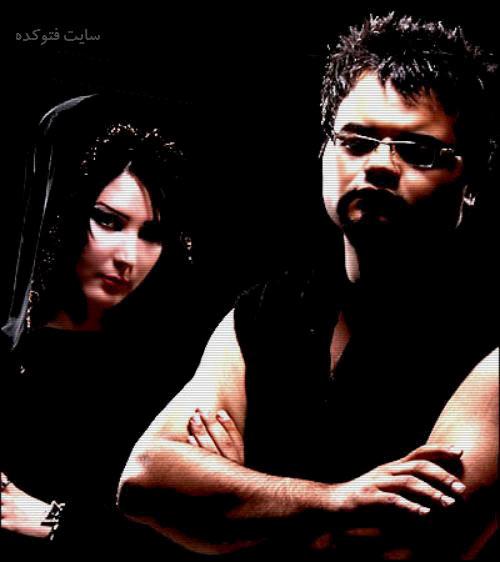 افشین آذری در کنار نسیم خواننده