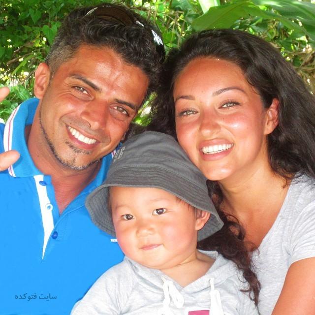 عکس افشین جعفری خواننده و همسرش