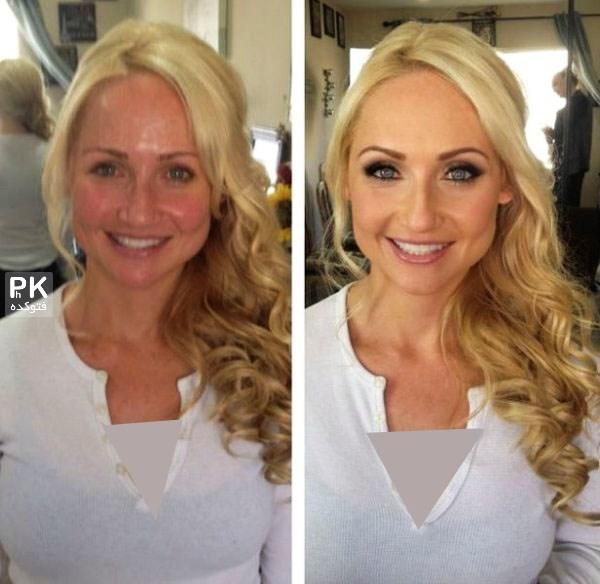 عکس های قبل و بعد آرایش زنان,معجره آرایش در زنان,عکس زنان قبل و بعد از آرایش,عکس جالب و خنده دار از زنان زشت بعد از آرایش,آرایش قشنپ دختران زشت,میکاپ زنان