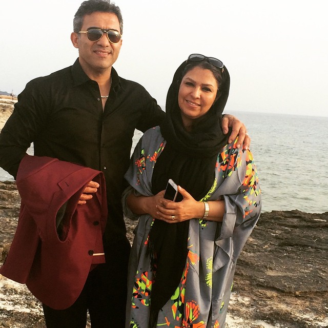 عکس احمدرضا عابدزاده و همسرش نفیسه لطیفیان با بیوگرافی