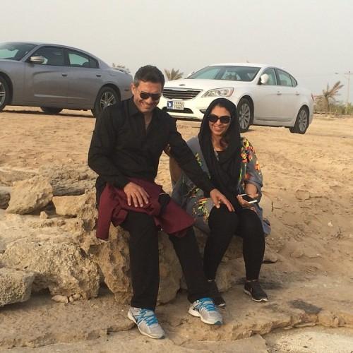 عکس احمدرضا عابدازده و همسرش نفیسه لطیفیان