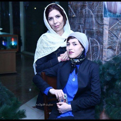 عکس آیدا تبیانیان و مادرش