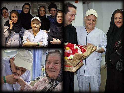 عکس های دیدنی اکبر عبدی در بیمارستان
