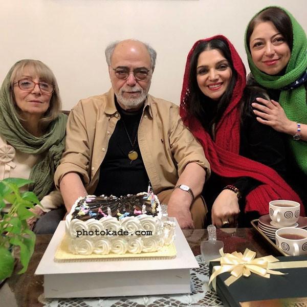 همسر و دختر اکبر زنجانپور با الهام پاوه نژاد