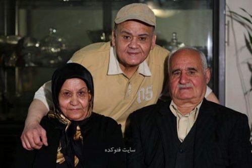 عکس اکبر عبدی در کنار پدر و مادرش + بیوگرافی و جنجال ها