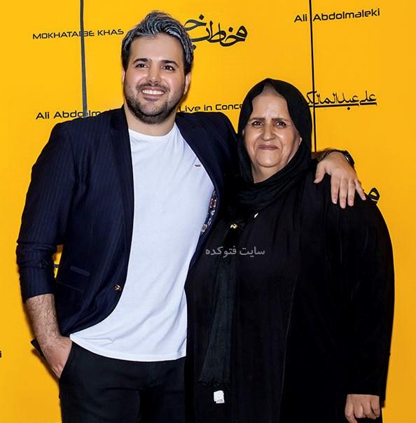 عگس علی عبدالمالکی و مادرش + بیوگرافی