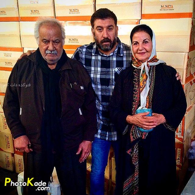 عکس انصاریان در کنار پوری بنایی و ناصر ملک مطیعی