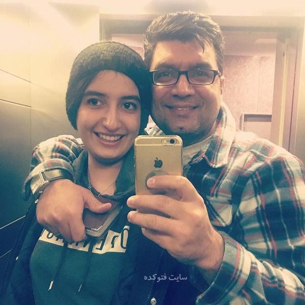 عکس های علی عطشانی کارگردان و دخترش بیتا