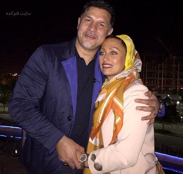 عکس و بیوگرافی علی دایی و همسر مونا فرخ آذری