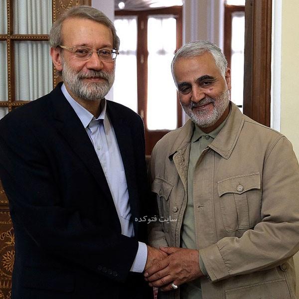 عکس های علی لاریجانی و سردار سلیمانی