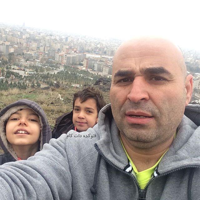 عکس های علی مسعودی و خواهرزاده هایش + بیوگرافی