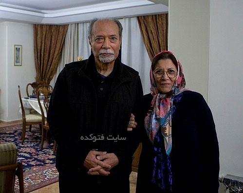 علی نصیریان و همسرش فاطمه بیات