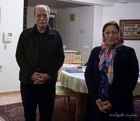 علی نصیریان و همسرش فاطمه بیات + بیوگرافی کامل