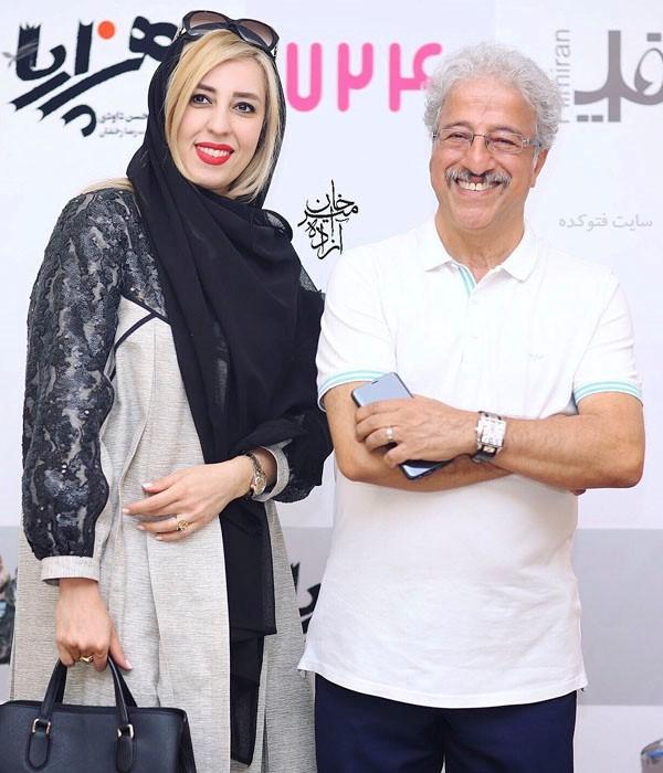 علیرضا خمسه و همسرش مروارید پور شفیقی