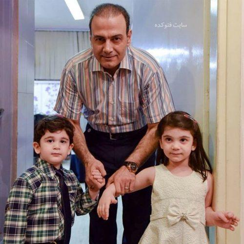 عکس فرزندان علیرضا قربانی + دوقلوهای بنام حافظ و آواز + زندگینامه شخصی