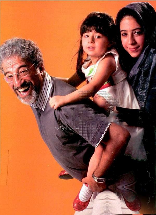 عکس همسر و دختر بزرگ اش