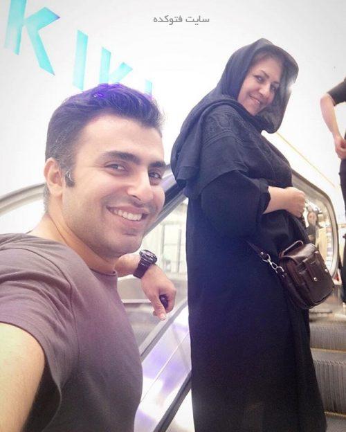 عکس علیرضا طلیسچی و مادرش
