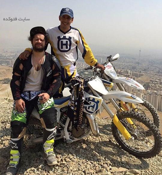 عکس موتورسواری علی صادقی و زندگی لاکچری بازیگر مرد ایرانی