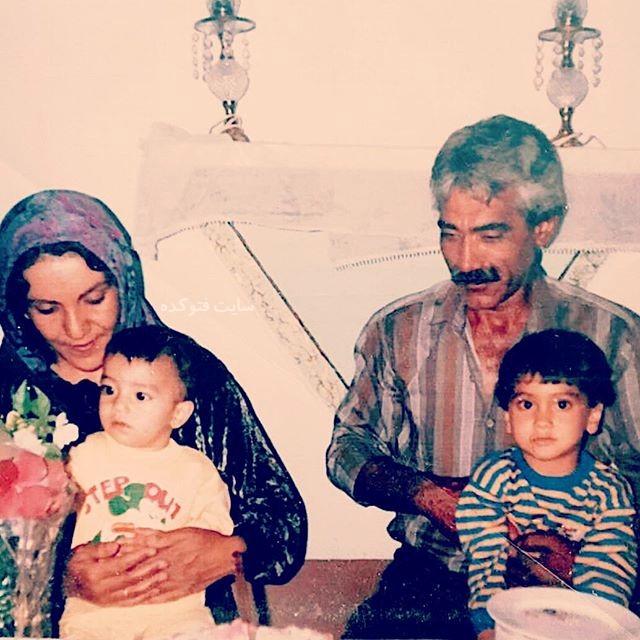 عکس پدر و مادر  علی زند وکیلی