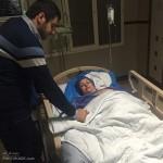 بستری شدن مادر علی ضیا در بیمارستان