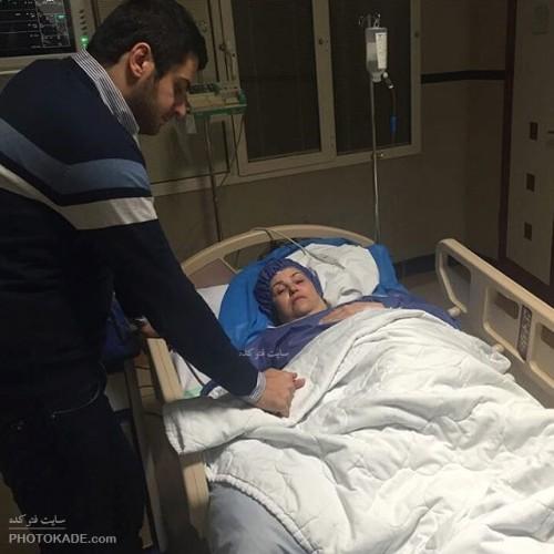 بستری شدن مادر علی ضیا در بیمارستان,شهره احدیت مادر علی ضیا در بیمارستان بستری شد,وخامت حال شهره احدیت مادر سید علی ضیا,عمل قلب مادر علی ضیا