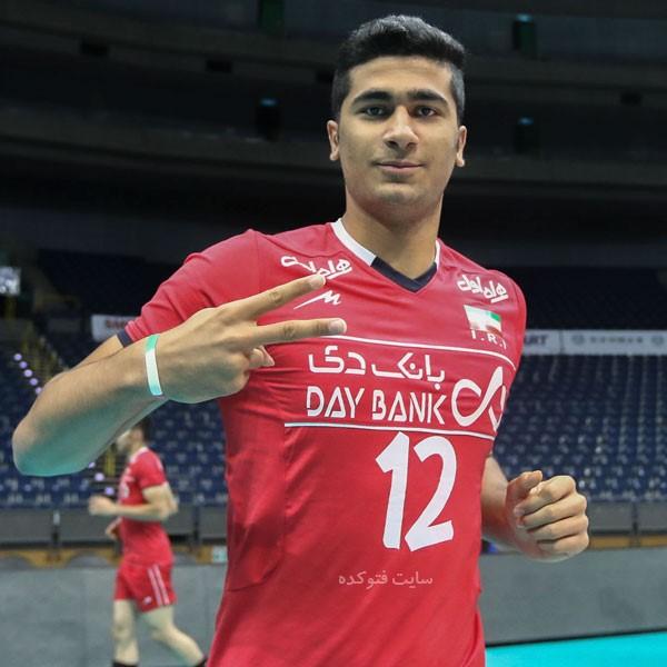 امیر حسین اسنفدیار بازیکن والیبالیست تیم ملی