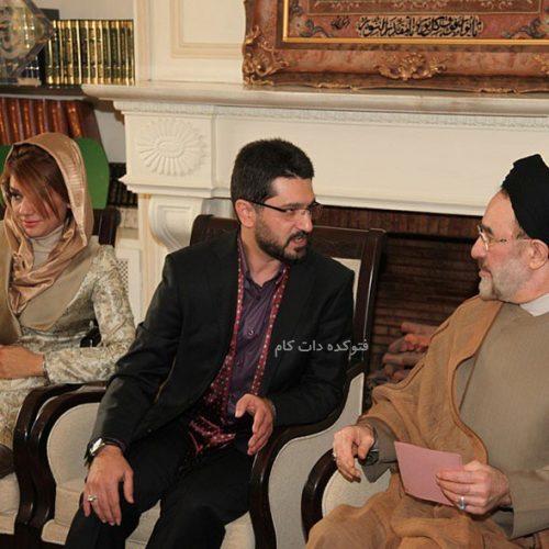 عکس مراسم عقد امیرحسین مدرس و همسر دومش در کنار سیدمحمد خاتمی