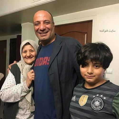 عکس امیر جعفری و مادرش + پسرش آیین + زندگینامه