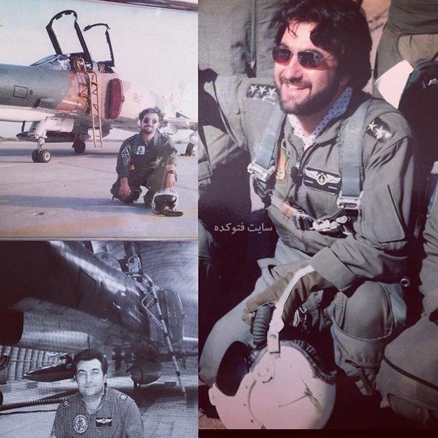 عکس امیر جوشقانی خلبان نیروی هوایی ارتش و مجری