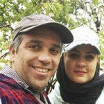 امیر کربلایی زاده و همسرش پوران مرادی با عکس