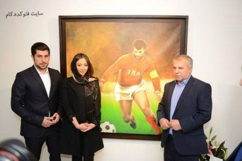 آناهیتا درگاهی در کنار همسرش محمد پروین و پدر همسرش