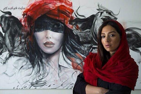 عکس آناهیتا درگاهی و نقاشی هایش