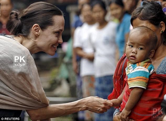 عکس های آنجلینا جولی در برمه,عکس آنجلینا جولی,جدیدترین عکسهای آنجلینا جولی,آنجلینا جولی سفیر سازمان ملل,عکس خفن و جدید آنجلینا جولی,Angelina Jolie in berme