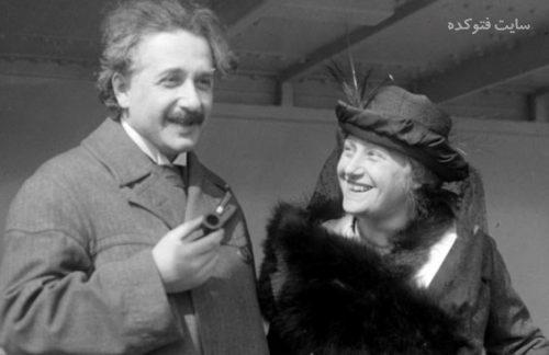 عکس آلبرت و السا انشتین، دختر خاله و همسر دوم او