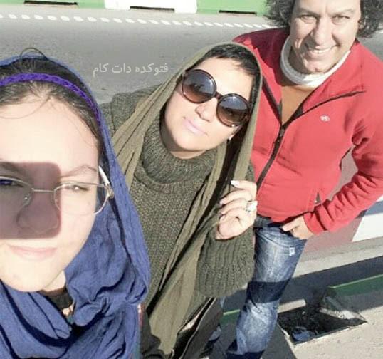 آرش میراحمدی و همسرش + دخترش