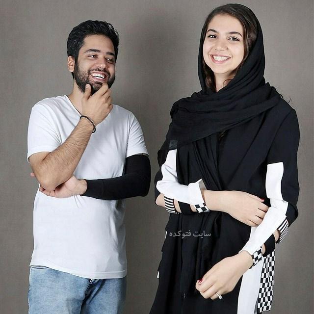 عکسسارا خادم الشریعه و همسرش اردشیر احمدی + بیوگرافی