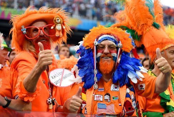 عکس مردان طرفدار هلند جام جهانی 2014 برزیل