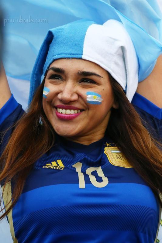 عکس تماشاگران دختر جام جهانی 2014 ,عکس داغ و هات دختر تماشاگر آرژانتینی
