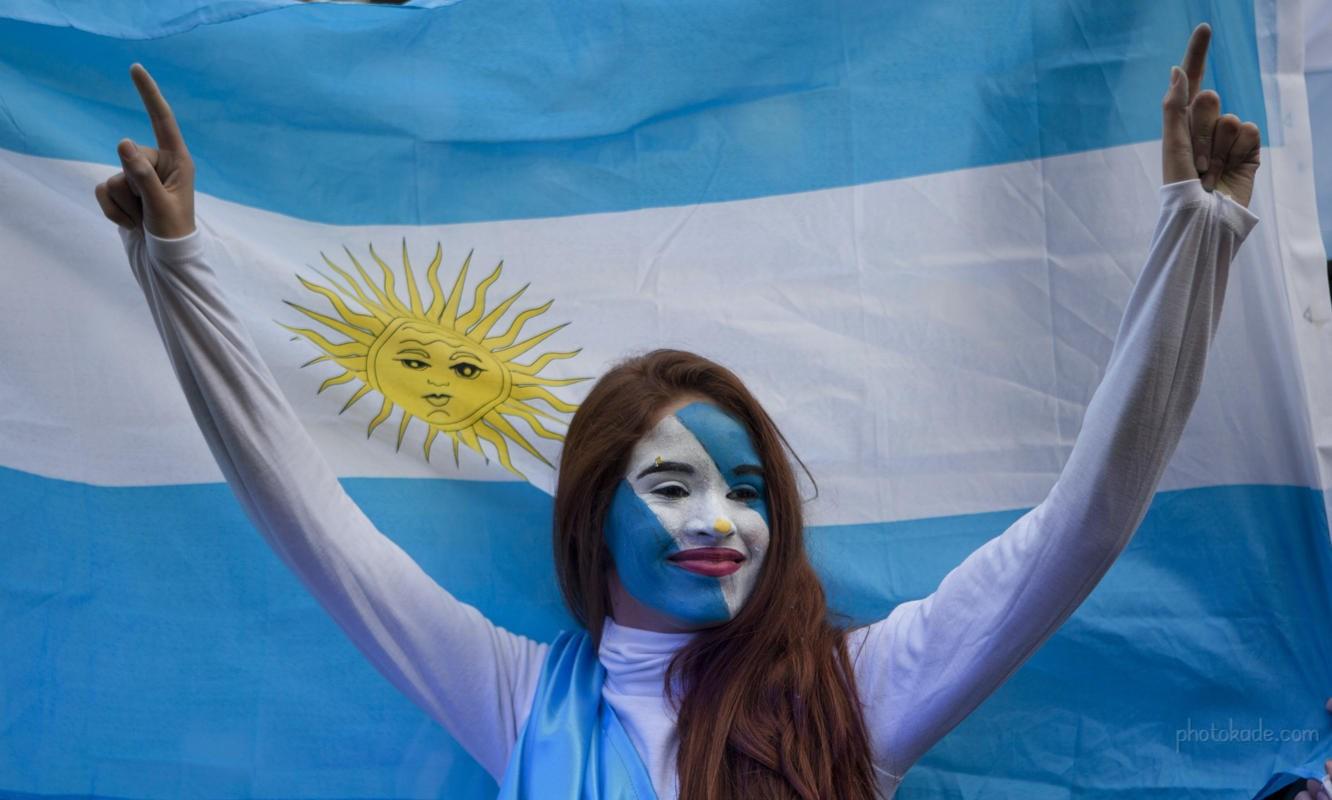 دختران زیبای تماشاگر فوتبال آرژانتین 2014 برزیل