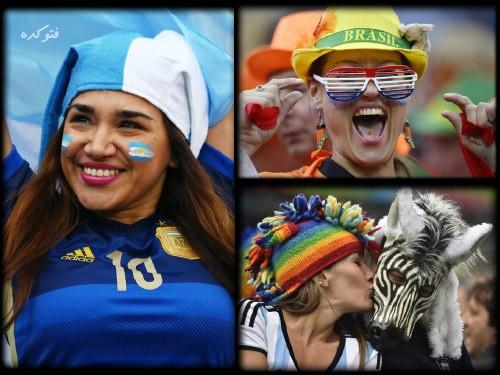 عکس تماشاگران بازی هلند و آرژانتین