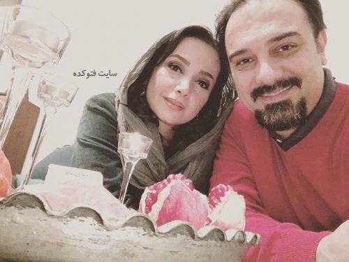 عکس برزو ارجمند و همسرش