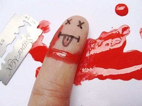 عکس های جالب هنر روی انگشت,عکس های بامزه هنری روی انگشتان,نقاشی روی انگشت,طراحی روی انگشت زیبا و بامزه