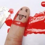عکس های جالب هنر روی انگشت
