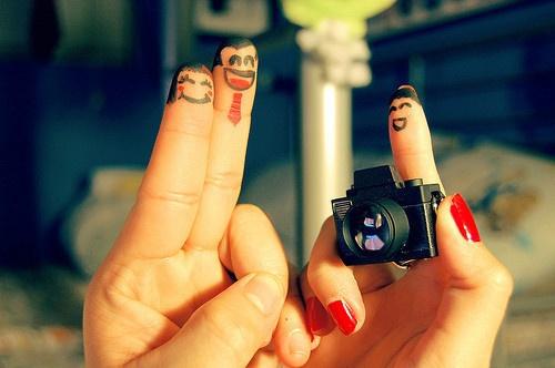 عکس هنر روی انگشت,عکس های هنری روی انگشت