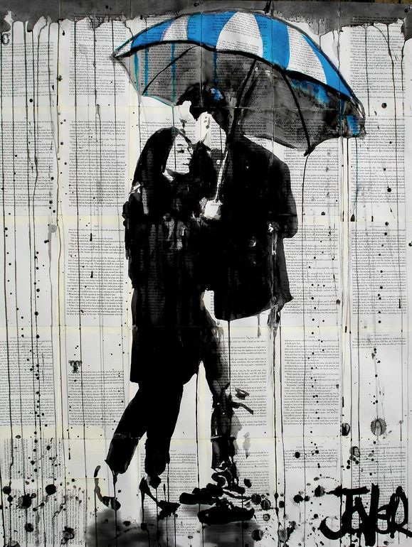 عکس عاشقانه زیر باران