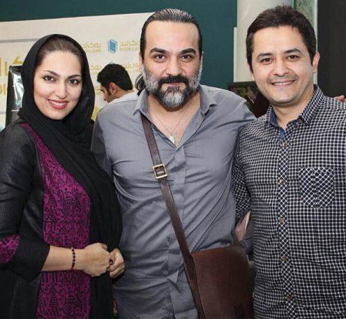 عکس افشین ذی نوری و همسرش الهام یار احمد در کنار یغما گلرویی