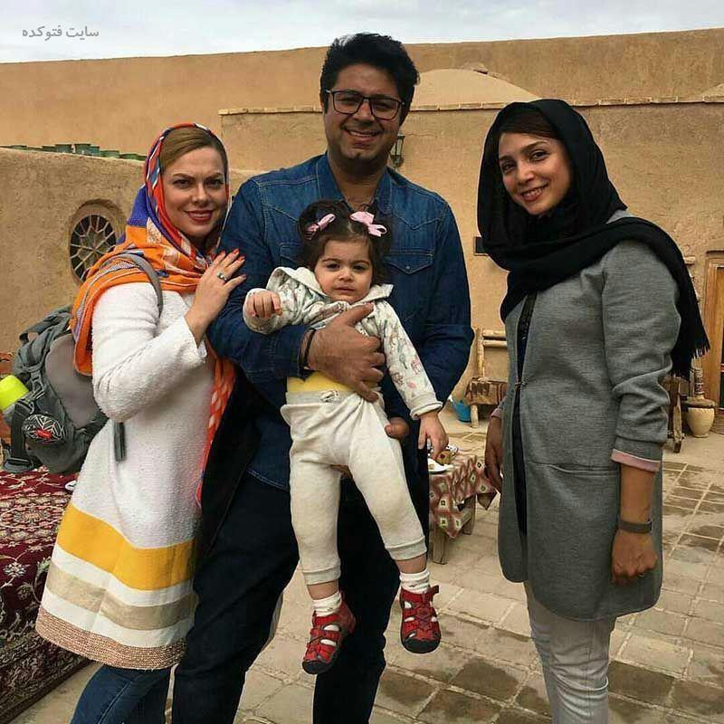 عکس حجت اشراف زاده و همسرش + دخترش